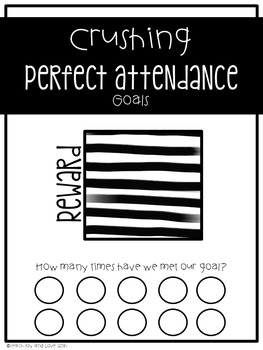Editable Perfect Attendance Class Motivator