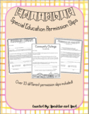 Editable Permission Slip Bundle