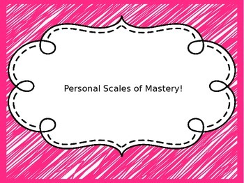 Editable Personal Scales of Mastery (Perfect for Marzano!)