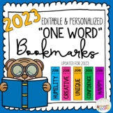 2019 Personalized One Word Goal Bookmarks (Editable)