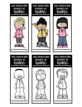 Editable Personalized Bookmarks --- Black & White and Color!