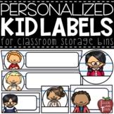 EDITABLE Personalized Kid Classroom Labels {7 different la