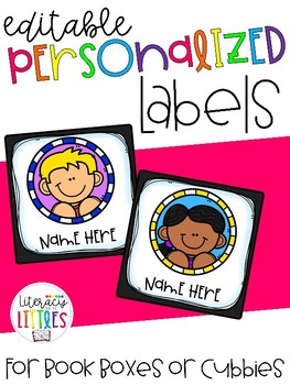 Editable Personalized Labels {For Cubbies or Book Boxes}