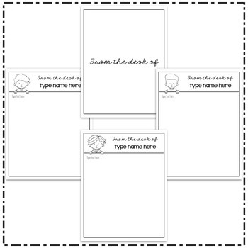 Editable Personalized Stationary Templates - Hadasa's Kids Edition