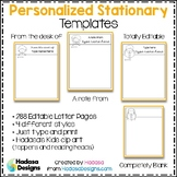 Editable Personalized Stationary Templates - Hadasa's Kids