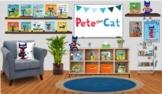 Editable Pete the Cat Themed Virtual Classroom for Bitmoji