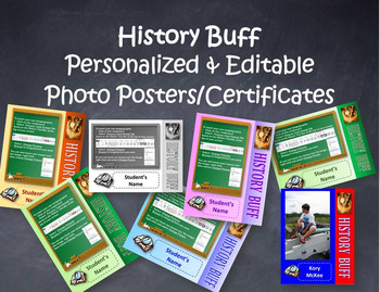 Editable Photo Posters and Certificates: History Buff Theme