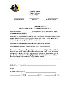 Editable Photo Release Form