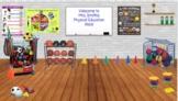 Editable Physical Education/Gym Virtual Classroom