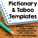 Editable Pictionary and Taboo Templates