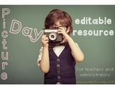 Editable Picture Day Resource