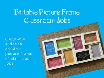 Editable Picture Frame Classroom Jobs