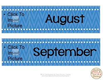Add Your Own Pictures: Monthly Calendar Cards
