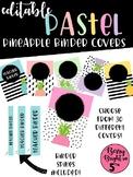 Editable Pineapple Binder Covers