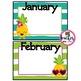 Editable Pineapple Birthday Chart