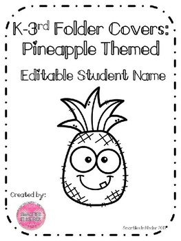 Editable Pineapple Folder Covers