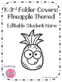 Editable Pineapple Folder Covers
