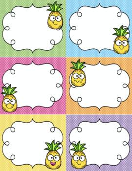 Editable Pineapple Labels