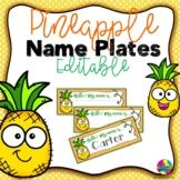 Editable Pineapple Name Plates