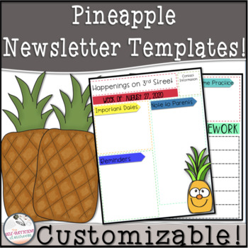 editable homework and newsletter template teaching resources
