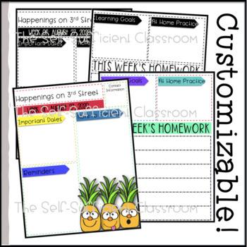 Editable Pineapple Newsletter Templates