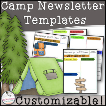 Editable Camping Newsletter Templates