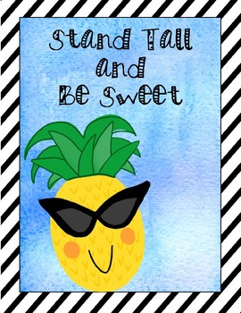 Editable Pineapple Poster Set - (Classroom Rules and Positive Quotes)