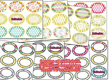 Editable!! Pineapple Themed Labels, drawer labels,  & Hall Passes Bundle