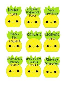 Editable Pineapple Wishlist