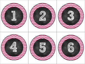 Editable Pink & White Chevron & Chalk Classroom Pack