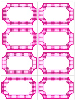 Editable Pink & White Polka Dot Labels