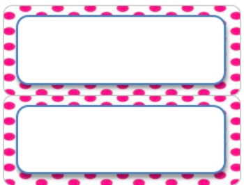 Editable Pink and White Labels