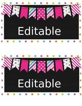 15 qt Editable Labels - pink