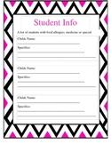Editable Pink/Black Chevron Sub Binder