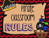 Editable Pirate Classroom Rules
