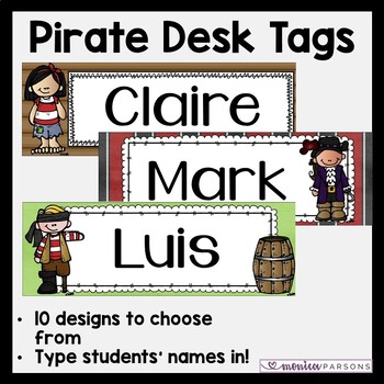 Editable Pirate Desk Tags