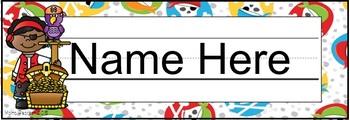 Editable Pirate Name Plates
