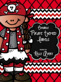 Editable Pirate Themed Class Labels