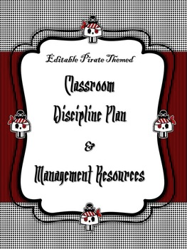 Back to School Editable Pirate Themed Discipline Plan & Cl