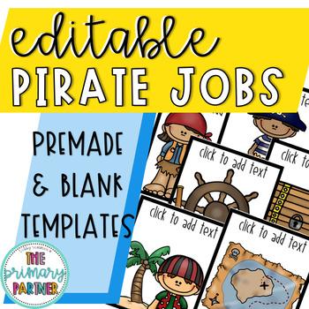 Editable Pirate-Themed Classroom Jobs