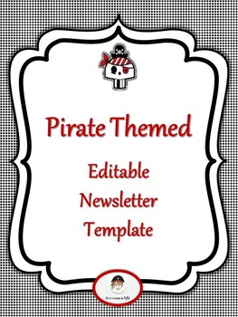 Back to School Editable Pirate Themed Newsletter Template