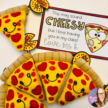 Editable Valentine Cards- Pizza Theme