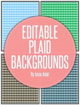 Editable Plaid Backgrounds