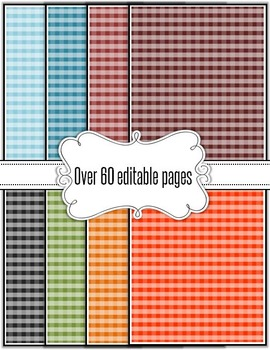 Editable Plaid Backgrounds
