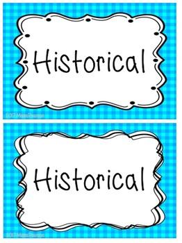 Editable Gingham Book Labels