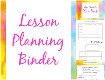 Editable Plan Book: Watercolor Edition