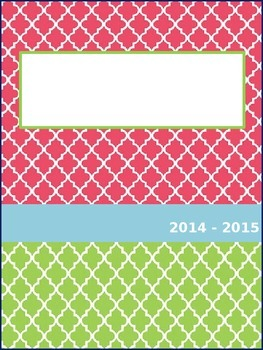 Editable Planbook Cover