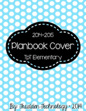 Editable Planbook Cover Page {Big Polka Dots A}