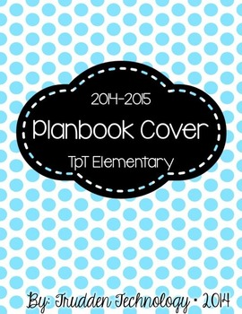 Editable Planbook Cover Page {Big Polka Dots B}