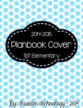 Editable Planbook Cover Page {Big Polka Dots B}